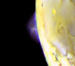 Volcanic plumes from Io