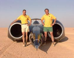 RN and AG in front of the thrustSSC