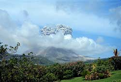 Soufriere Hill exploding -part I