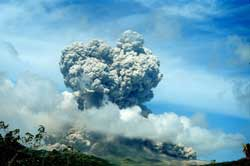 Soufriere Hill exploding -part III