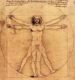Leonardo da Vinci's drawing of a man